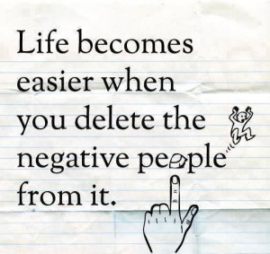 Delete negative people
