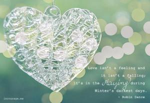 Love isn't just a feeling
