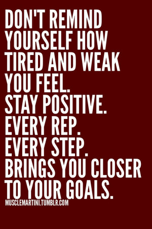 Positive Fitness Goals Quotes
