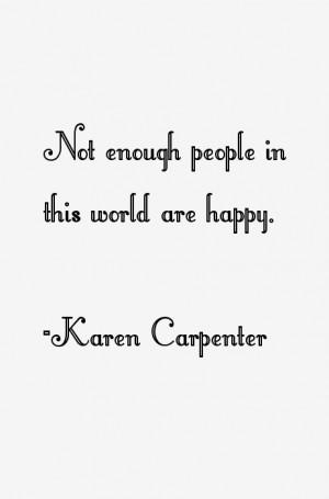 Karen Carpenter Quotes & Sayings