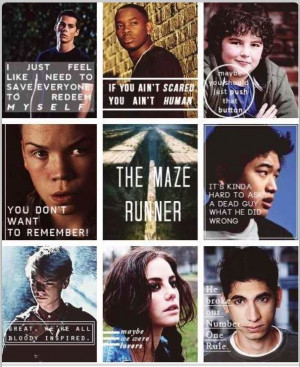 Quoting the characters, The Maze Runner----> I love how everyone's is ...