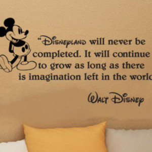 Disney Mickey Mouse Disneyland will never be wall quote vinyl wall ...