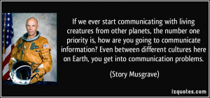 communicating with living creatures from other planets, the number one ...