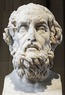Bust of Homer , the ancient Greek epic poet