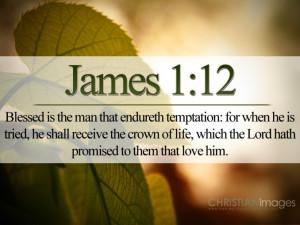 James 1:12 – Endure Temptation Papel de Parede Imagem