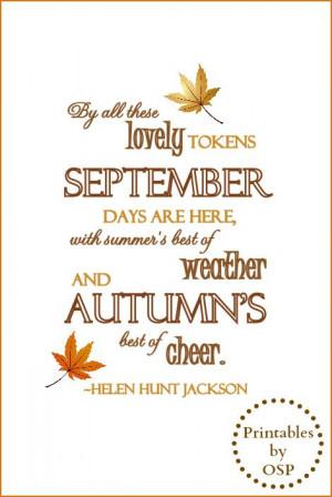 Autumn Quote Free Printable