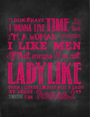 Ladylike Quote Chalkboard Print PINK