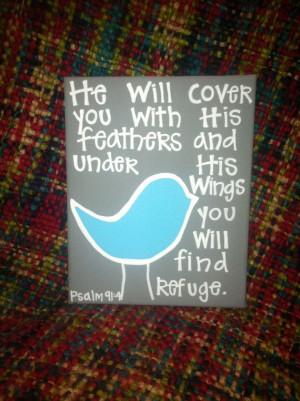 8x10 Bird Bible Verse Canvas by Studio116Designs on Etsy, $20.00
