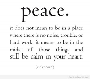 PEACE BEING