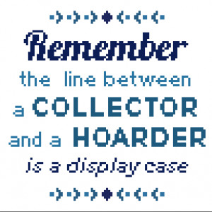 Free Pattern Friday - John Hodgman Quote from Hugs are Fun