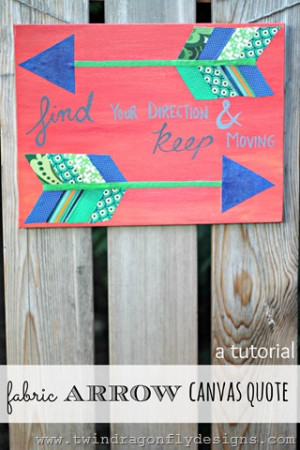 Cute Canvas Quote Painting Ideas Fabric arrow canvas