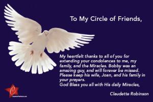 My Heartfelt Thanks for your Prayers