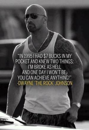 Motivational Fitness Quote l The Rock l Dwayne Johnson: The Rocks ...