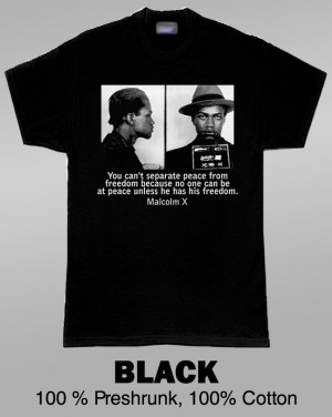 Malcolm X Mugshot With Famous Quote T Shirt