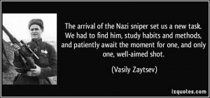 The arrival of the Nazi sniper set us a new task. We had to find him ...