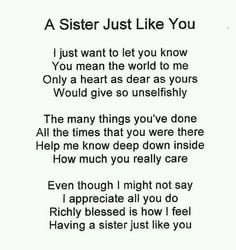 Best Sister Poems Quotes Sisters quotes, love my