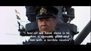 ... Japanese Admiral Isoroku Yamamoto , after the attack on Pearl Harbor