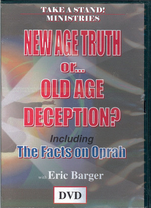... front cover of the DVD entitled New Age Truth Or... Old Age Deception