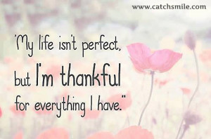 My Life is Not Perfect But I Am Thankful For Everything I Have