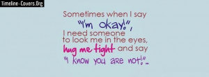 Sometimes I'm Okay Fb Cover