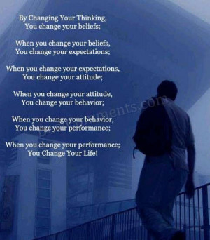 By Changing Your Thinking