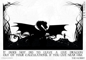 The Hobbit Illustrated Quote A5 Canvas Print J.R.R. Tolkien. £5.00 ...