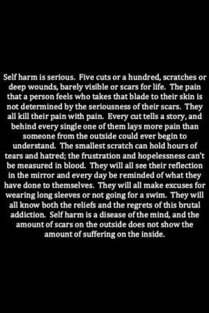 cuts, cutting, depressed, hurt, pain, sad, self harm, stay strong ...