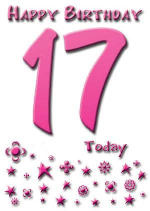 Happy Birthday 17 Today - Sparkle