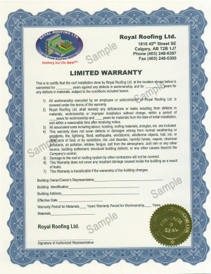 ... warranties as shown below and also provided links to sample warranties