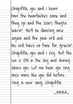 ABBA-Chiquitita , my favorite song :)
