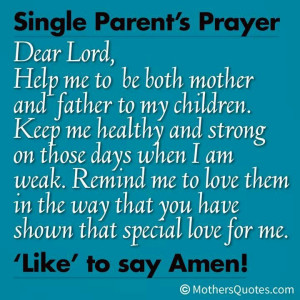 Single Parent Prayer