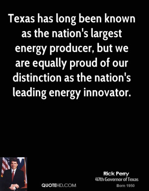 Texas has long been known as the nation's largest energy producer, but ...