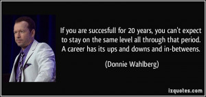 More Donnie Wahlberg Quotes