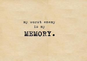 emo, enemy, memory, quotes, sad, words