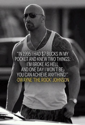 Motivational Fitness Quote l The Rock l Dwayne Johnson: The Rocks ...