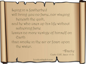 Dante Quote on Taking Action