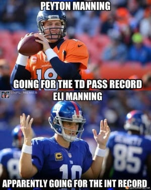 SportsMemes.net > Football Memes > Mannings in Record Books