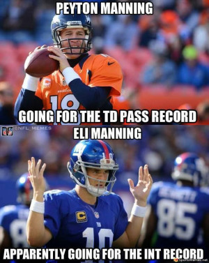 SportsMemes.net > Football Memes > Mannings in Record Books