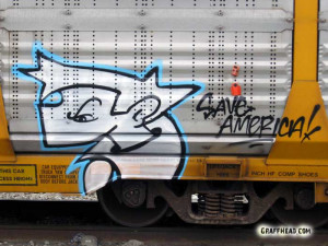 ... pictures of famous sayings by Jaber to the GraffHead train section