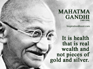 Mahatma Gandhi Health Quotes
