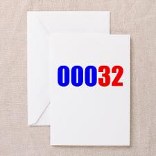 32nd Birthday Counter Greeting Cards (Pk of 20) for