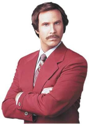 Will Ferrell as Ron Burgundy, Anchorman