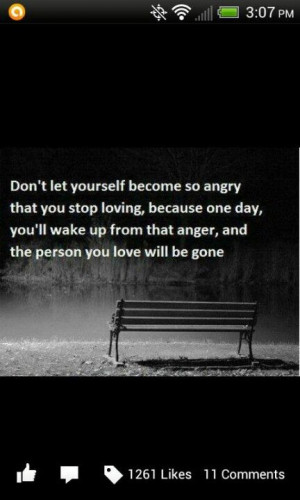 Don't let anger push love away