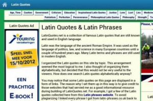Latin Phrases and Quotes