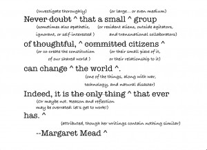 It has never been clear that Margaret Mead actually uttered the quote ...