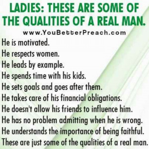 Good Man Qualities