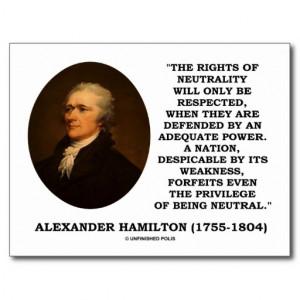 alexander_hamilton_rights_of_neutrality_power_postcard ...