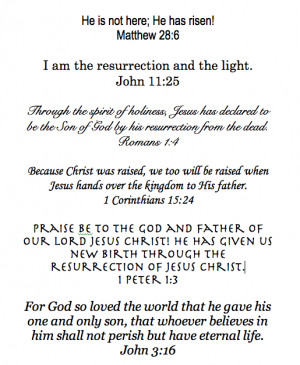 ... easter resurrection of easter bible verses for kids death burial