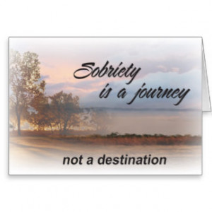 sobriety is a journey aa slogan card