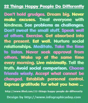Things Happy People...
